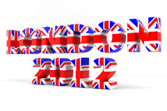 London 2012 Union Flag. London written in 3D and decorated with the Union Flag Royalty Free Stock Photography