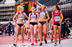 London 2012: winning athletes Stock Photo