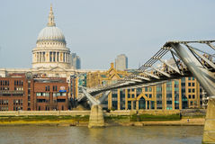 London. St-Paul's Cathedral from accross the Thames, London royalty free stock photography