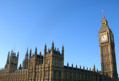 London. A view of Big Ben stock images