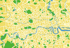 London. Layered vector illustration pattern map of London Stock Photo