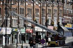 LONDON - 9. AUGUST: Clapham Verzweigungsbereich ist sacke Stockbild