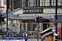 LONDON - 9. AUGUST: Clapham Verzweigungsbereich ist sacke Lizenzfreies Stockbild