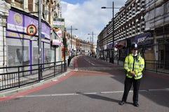 LONDON - 9. AUGUST: Clapham Verzweigungsbereich ist sacke Stockfoto