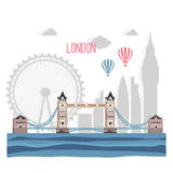 London  abstract silhouette on white  background. Stock Photography