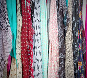 In  london accessory colorfull scarf and headscarf old market no Royalty Free Stock Images