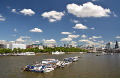 London across Thames river Royalty Free Stock Photography