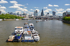 London across Thames river Stock Image