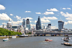London across Thames river Royalty Free Stock Image
