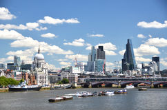 London across Thames river Stock Photography