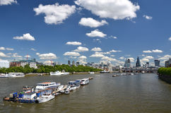 London across Thames river Stock Images