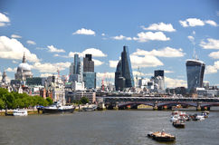 London across Thames river Royalty Free Stock Photo