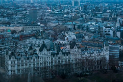 London Aerial View. Beautiful aerial views over London Royalty Free Stock Photography