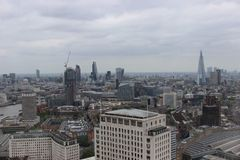 London. Aerial view on London City Royalty Free Stock Image