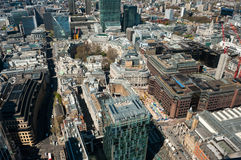 London, aerial view over the City Royalty Free Stock Photography