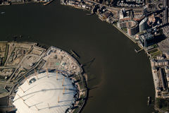 London from the air. View of the river Themes Royalty Free Stock Photos