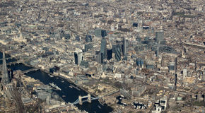 London from the air. View of the river Themes Stock Photo