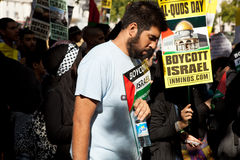 London Al-Quds Marsch Stockbild