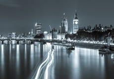 London-Ansicht-Silber Lizenzfreies Stockbild