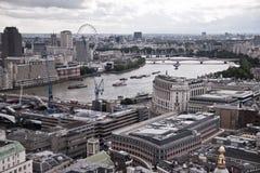 London antennviev Arkivfoto