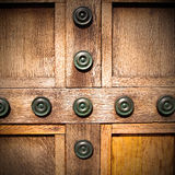 In london antique  door  rusty  brass nail and light Royalty Free Stock Photography