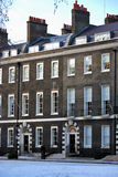 London apartments. Typical terrace house in London Royalty Free Stock Images