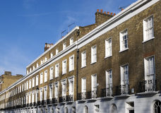 London apartments. Typical terrace house in London (Kensington stock images