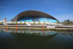 LONDON - APRIL 5. The Aquatics Centre at the new Queen Elizabeth Stock Photos