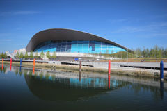 LONDON - APRIL 5. The Aquatics Centre at the new Queen Elizabeth Stock Photography