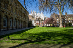 LONDON - APRIL 14: Courtyard of Westminster Abbey in spring. Stock Photos