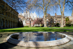 London - April 14: Courtyard of Westminster Abbey in spring. Stock Image