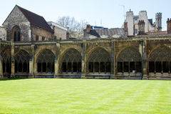 LONDON - APRIL 14: Courtyard of Westminster Abbey in spring. Stock Photography