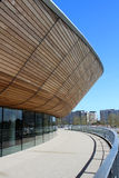 LONDON - APRIL 5. The new Queen Elizabeth Olympic Park. On April 5, 2014, the opening day of the landscaped public area with the VeloPark cycling arena, in Stock Images