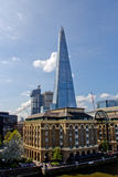 LONDON - April 11, 2014: The Shard is an 87-storey skyscraper in Stock Photo