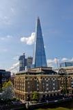 LONDON - April 11, 2014: Skärvan är en skyskrapa för 87 våning in Arkivfoto
