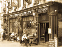 London, April 2014; A vintage style Sherlock Holmes Pub Royalty Free Stock Images