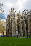 LONDON - April 14, 2014: Westminster Abbey is a large, mainly Go Royalty Free Stock Photos