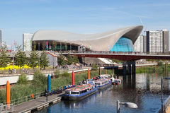 London Aquatics Centre and Lea Valley. Royalty Free Stock Photography