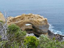 London Arch in the Port Campbell National Park royalty free stock photography