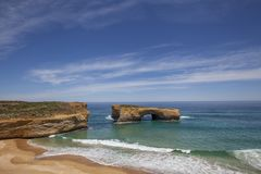 London Arch at Port Campbell National Park on the great ocean road in Victoria, Australia stock image