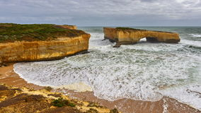 London Arch stack formation along Great Ocean Road in Victoria Royalty Free Stock Photo