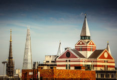 London architectural contrasts Royalty Free Stock Photos