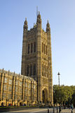 London Architecture. A view of Parliament Building on a sunny day. London Royalty Free Stock Images