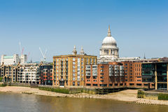 London architecture. Cityscape of London's downtown. Residential buildings by the River Thames. May 2014, UK Stock Image