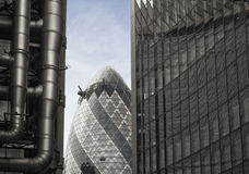 London architecture composition with The Gherkin Stock Photo