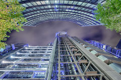 London Architecture. In the late evening stock image