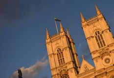 London towers at the sunset royalty free stock photography