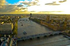 London ariel view royalty free stock photo