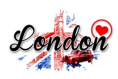 London art design illustration Royalty Free Stock Images