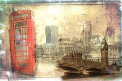 London art vintage illustration Royalty Free Stock Photo